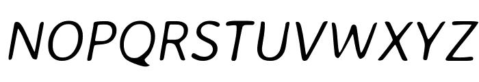 Averia Sans Libre Light Italic Font UPPERCASE