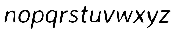Averia Sans Libre Light Italic Font LOWERCASE