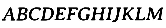Averia Serif Libre Bold Italic Font UPPERCASE