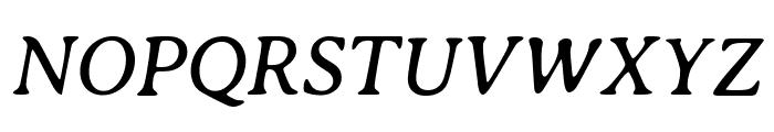 Averia Serif Libre Italic Font UPPERCASE