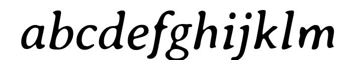 Averia Serif Libre Italic Font LOWERCASE