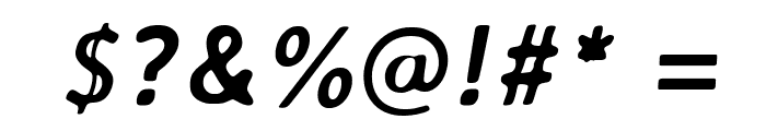 AveriaSans-BoldItalic Font OTHER CHARS