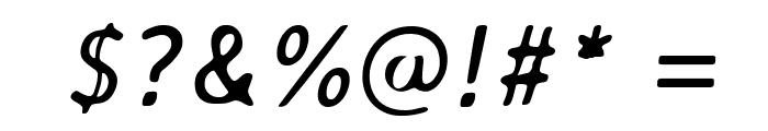 AveriaSans-Italic Font OTHER CHARS