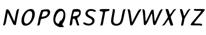 AveriaSans-Italic Font UPPERCASE