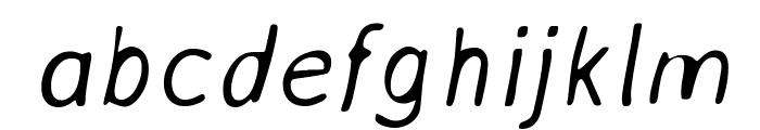 AveriaSans-LightItalic Font LOWERCASE