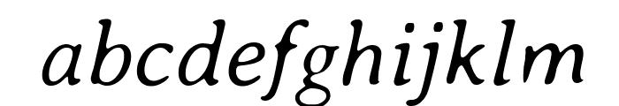AveriaSerif-LightItalic Font LOWERCASE
