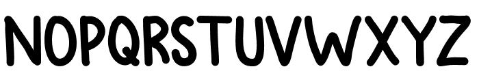 Avocados Font UPPERCASE