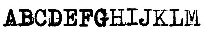 Avojaloin Font UPPERCASE