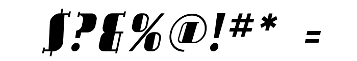 Avondale Italic Font OTHER CHARS