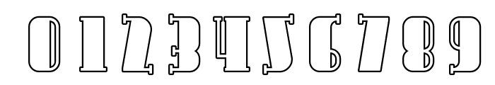 Avondale Outline Font OTHER CHARS