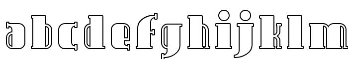Avondale Outline Font LOWERCASE