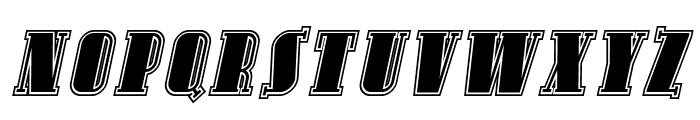 Avondale SC Inline Italic Font UPPERCASE