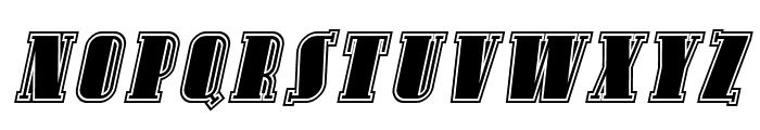 Avondale SC Inline Italic Font LOWERCASE