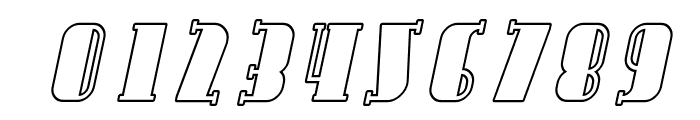 Avondale SC Outline Italic Font OTHER CHARS