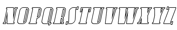 Avondale SC Outline Italic Font LOWERCASE