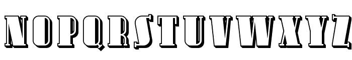 Avondale SC Shaded Font UPPERCASE