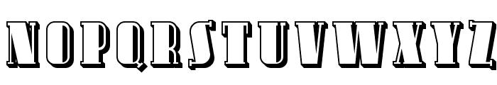 Avondale SC Shaded Font LOWERCASE