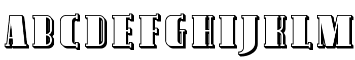 Avondale Shaded Font UPPERCASE