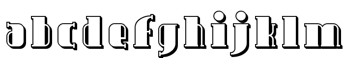 Avondale Shaded Font LOWERCASE