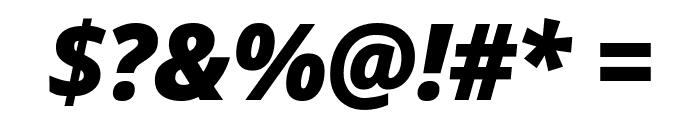Avrile Sans Black Italic Font OTHER CHARS