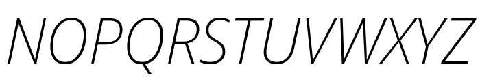 Avrile Sans ExtraLight Italic Font UPPERCASE