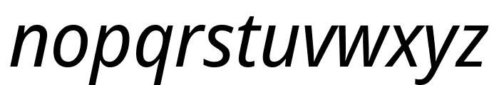 Avrile Sans Italic Font LOWERCASE