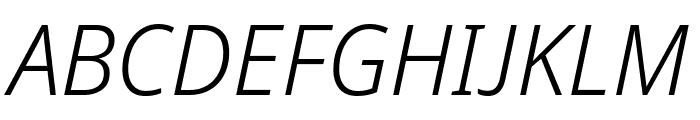 Avrile Sans Light Italic Font UPPERCASE