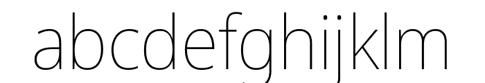 Avrile Sans Thin Font LOWERCASE