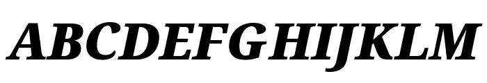 Avrile Serif Black Italic Font UPPERCASE