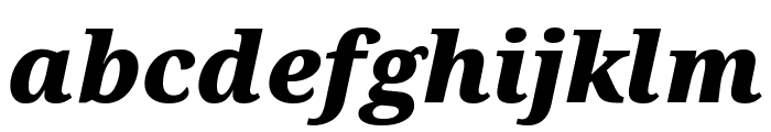 Avrile Serif Black Italic Font LOWERCASE