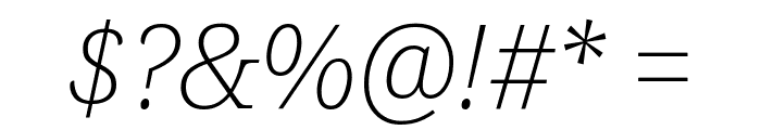 Avrile Serif ExtraLight Italic Font OTHER CHARS