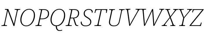 Avrile Serif ExtraLight Italic Font UPPERCASE