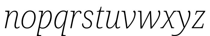 Avrile Serif ExtraLight Italic Font LOWERCASE