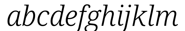Avrile Serif Light Italic Font LOWERCASE