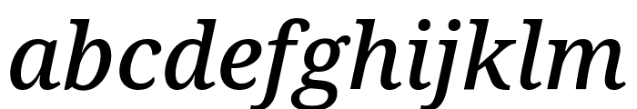Avrile Serif Medium Italic Font LOWERCASE