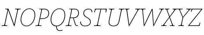 Avrile Serif Thin Italic Font UPPERCASE