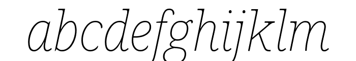 Avrile Serif Thin Italic Font LOWERCASE
