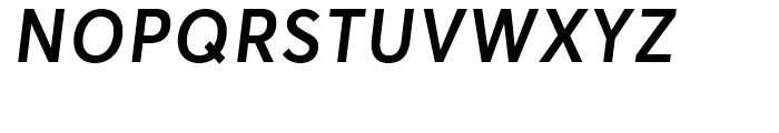 Averta Semibold Italic Font UPPERCASE