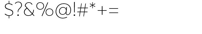 Averta Thin Font OTHER CHARS