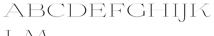 Aviano Didone Thin Font LOWERCASE