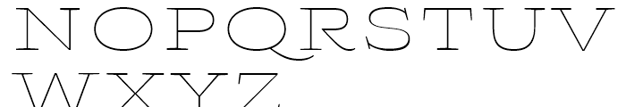 Aviano Wedge Thin Font UPPERCASE