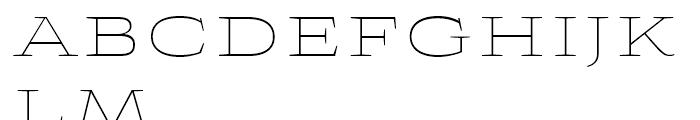 Aviano Wedge Thin Font LOWERCASE