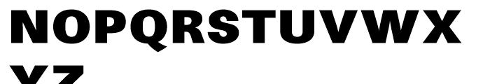 Avus Black Font UPPERCASE