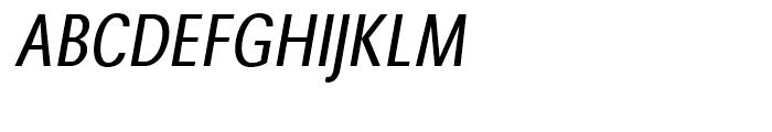 Avus Condensed Italic Font UPPERCASE