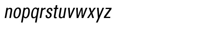 Avus Condensed Italic Font LOWERCASE