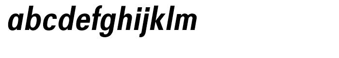 Avus Condensed Medium Italic Font LOWERCASE