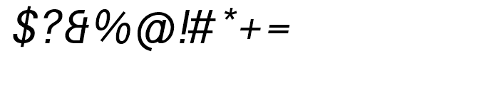 Avus Italic Font OTHER CHARS