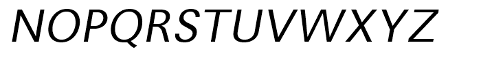 Avus Italic Font UPPERCASE
