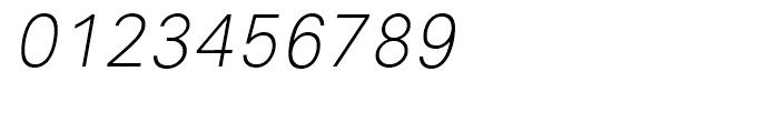 Avus Light Italic Font OTHER CHARS