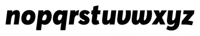 Averta Black Italic Font LOWERCASE